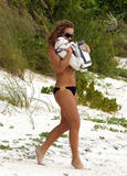 Mariah Carey - Topless (Covered) Candids on the Beach in Caribbean - Mitolover Home