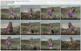 "DENISE AUSTIN - ""Getting Fit: St. George, Utah"" - *purple tanktop, bare-hips swimsuit*"